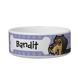 Cartoon Dachshund (wirehair) Bowl