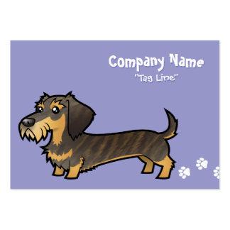 Cartoon Dachshund (wirehair) Business Card