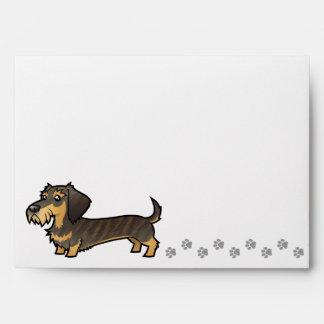 Cartoon Dachshund (wirehair) Envelopes