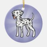 Cartoon Dalmatian Christmas Tree Ornaments