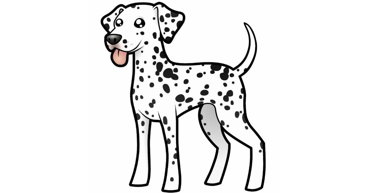 Cartoon Dalmatian Cutout Zazzle Com