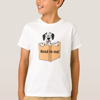 Cartoon DalmatianDog and Book Reading Custom Kids T-Shirt