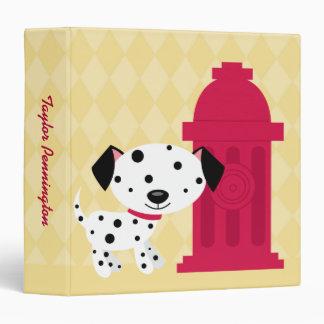 Cartoon dalmation dog & fire hydrant avery binder