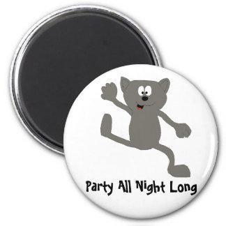 Cartoon Dancing Cat Fridge Magnet