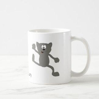 Cartoon Dancing Cat Coffee Mugs