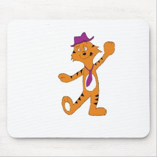 Cartoon Dancing Jazz Tiger Mouse Pad