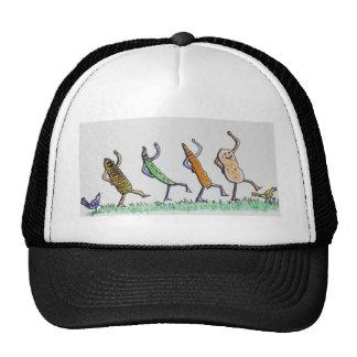 Cartoon Dancing Vegetables Trucker Hat