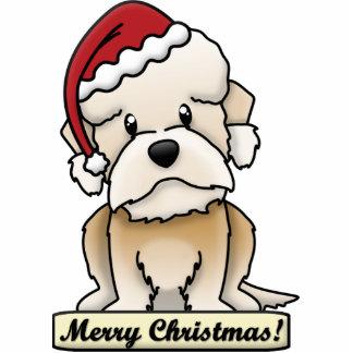 Cartoon Dandie Dinmont Terrier Christmas Ornament Acrylic Cut Outs