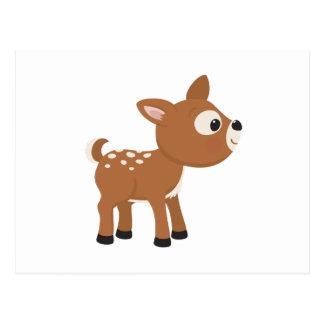 Cartoon Deer Postcard