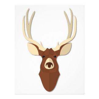 Cartoon Deer Stag Head Letterhead