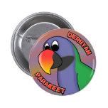 Cartoon Derbyan Parakeet Buttons