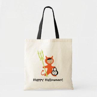 Cartoon devil customizable trick or treat bag