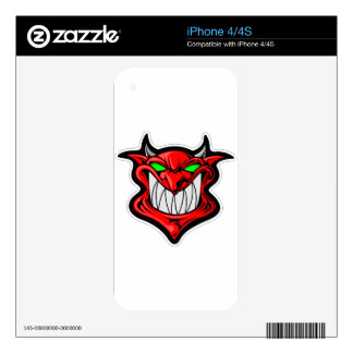 Cartoon Devil Decal For The iPhone 4S