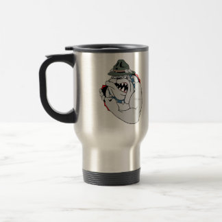 Cartoon Devil Dog Inside Travel Coffee Mug