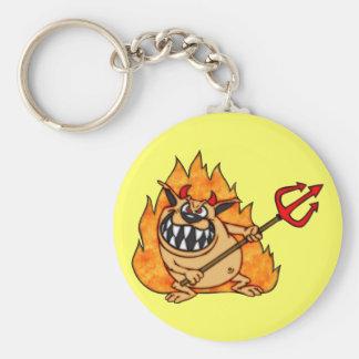 Cartoon Devil Dog Keychains
