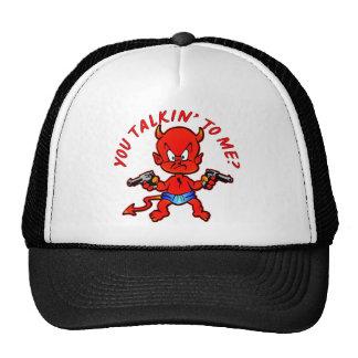 Cartoon Devil Pistol Shooter You Talkin' To Me Trucker Hat