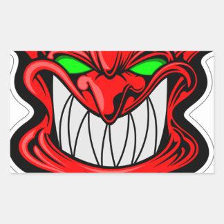 Cartoon Devil Rectangular Sticker