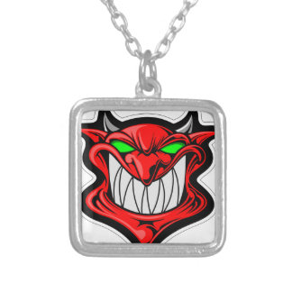 Cartoon Devil Silver Plated Necklace