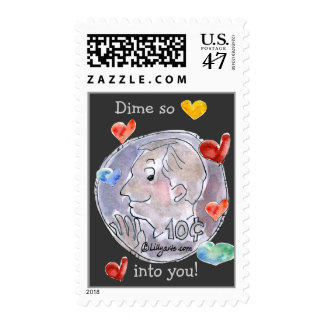 Cartoon Dime Love Postage