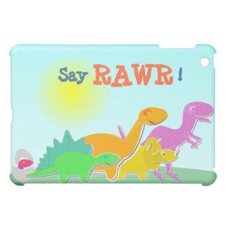 Cartoon Dino Family Say Rawr! iPad Case