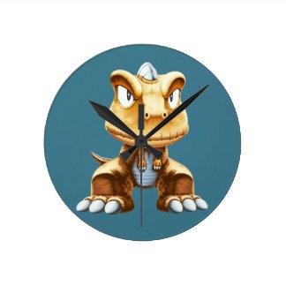 Cartoon Dinosaur Round Wall Clocks