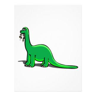 "Cartoon Dinosaur Eating 8.5"" X 11"" Flyer"