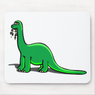 Cartoon Dinosaur Eating Mousepads
