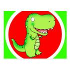 cartoon dinosaur T-rex for kids Postcard