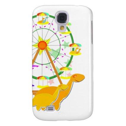 Cartoon Dinosaurs Ferris Wheel iPhone 3G/ 3GS Case Galaxy S4 Case
