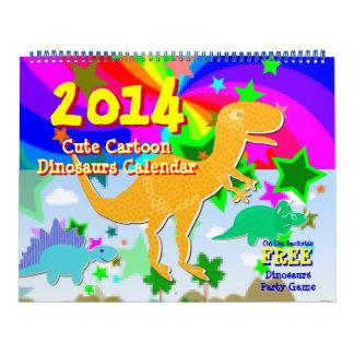 Cartoon Dinosaurs Kids Calendar 2014