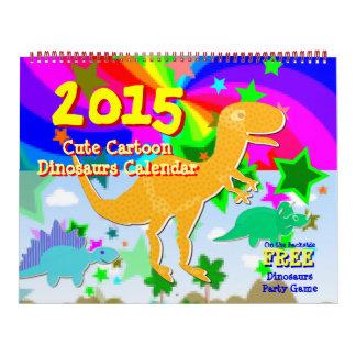 Cartoon Dinosaurs Kids Calendar 2015