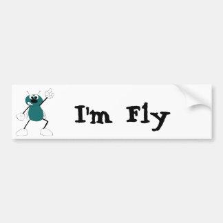 Cartoon Disco Dancing Fly Car Bumper Sticker