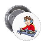 Cartoon DJ boy Pins