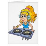 Cartoon DJ girl Cards