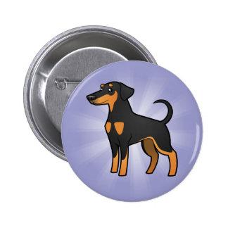 Cartoon Doberman Pinscher (floppy ears) Button