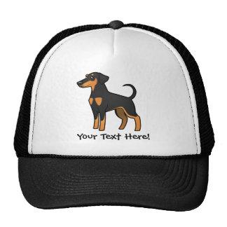 Cartoon Doberman Pinscher (floppy ears) Trucker Hat