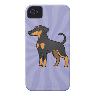 Cartoon Doberman Pinscher (floppy ears) iPhone 4 Case