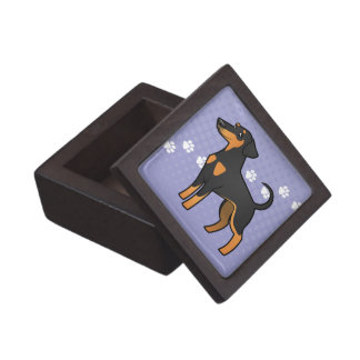 Cartoon Doberman Pinscher (floppy ears) Keepsake Box