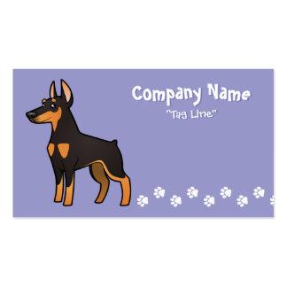 Cartoon Doberman Pinscher (pointy ears) Business Card