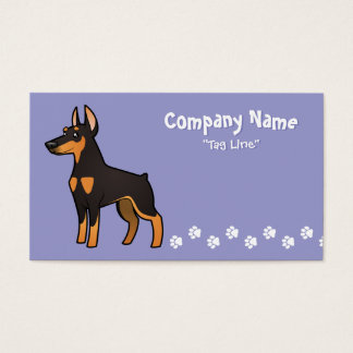 Cartoon Doberman Pinscher (pointy ears) Business Card