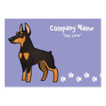 Cartoon Doberman Pinscher (pointy ears) Large Business Cards (Pack Of 100)