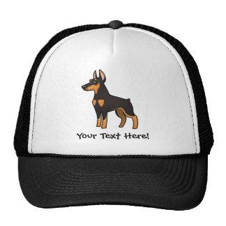 Cartoon Doberman Pinscher (pointy ears) Trucker Hat