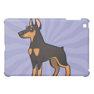 Cartoon Doberman Pinscher (pointy ears) iPad Mini Covers