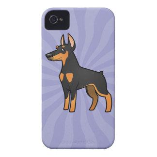 Cartoon Doberman Pinscher (pointy ears) iPhone 4 Case
