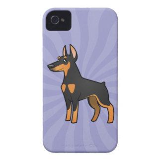 Cartoon Doberman Pinscher (pointy ears) iPhone 4 Case-Mate Case