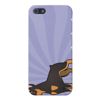 Cartoon Doberman Pinscher pointy ears Cover For iPhone 5