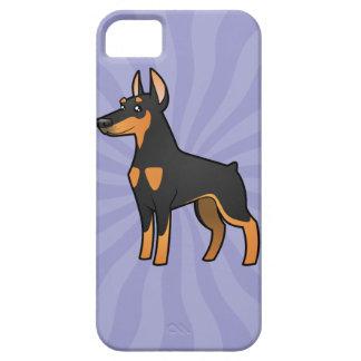 Cartoon Doberman Pinscher (pointy ears) iPhone SE/5/5s Case