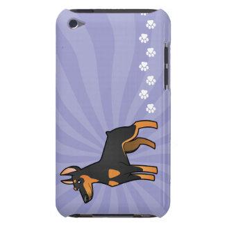 Cartoon Doberman Pinscher (pointy ears) iPod Case-Mate Case
