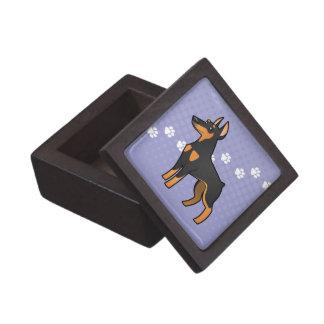 Cartoon Doberman Pinscher (pointy ears) Keepsake Box