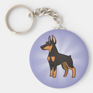 Cartoon Doberman Pinscher (pointy ears) Keychain